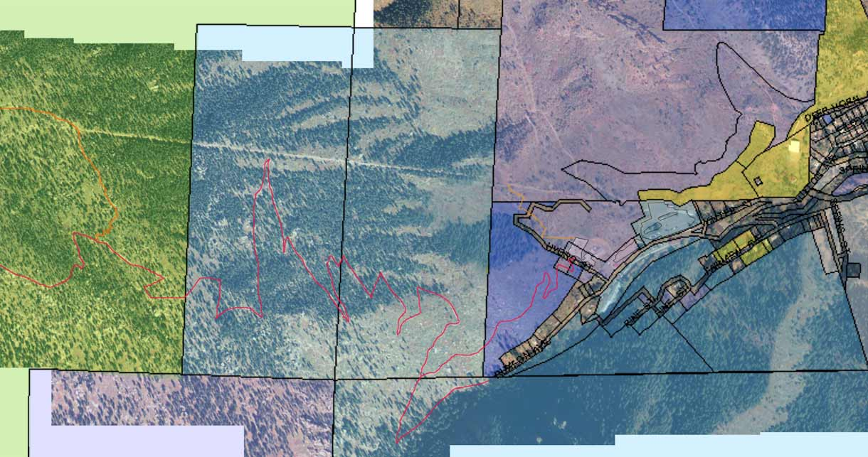 Incline - Satellite view with property shading