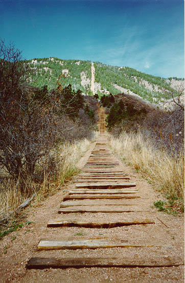 Incline as viewed from the bottom